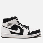 Мужские кроссовки Jordan Air Jordan 1 Mid White/Black/White фото- 0