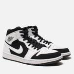 Мужские кроссовки Jordan Air Jordan 1 Mid White/Black/White фото- 2