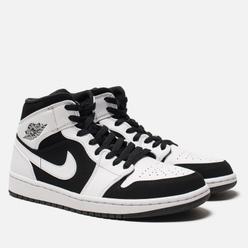 Мужские кроссовки Jordan Air Jordan 1 Mid White/Black/White