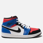 Мужские кроссовки Jordan Air Jordan 1 Mid White/Hyper Royal/University Red/Black фото- 0