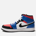 Мужские кроссовки Jordan Air Jordan 1 Mid White/Hyper Royal/University Red/Black фото- 1