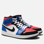 Мужские кроссовки Jordan Air Jordan 1 Mid White/Hyper Royal/University Red/Black фото- 2
