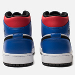 Мужские кроссовки Jordan Air Jordan 1 Mid White/Hyper Royal/University Red/Black фото- 4