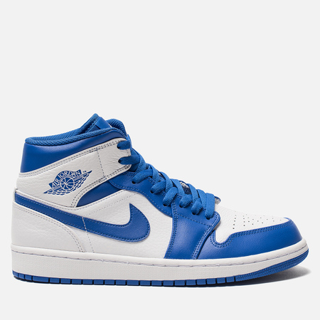 Мужские кроссовки Jordan Air Jordan 1 Mid White/Hyper Royal/White