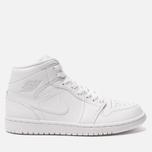 Мужские кроссовки Jordan Air Jordan 1 Mid White/Pure Platinium/White фото- 0