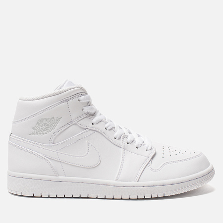 Мужские кроссовки Jordan Air Jordan 1 Mid White/Pure Platinium/White