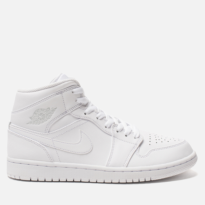 Мужские кроссовки Jordan Air Jordan 1 Mid White/Pure Platinium/White