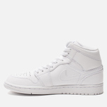Мужские кроссовки Jordan Air Jordan 1 Mid White/Pure Platinium/White фото- 1