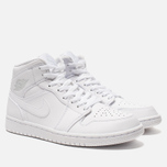 Мужские кроссовки Jordan Air Jordan 1 Mid White/Pure Platinium/White фото- 2