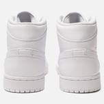 Мужские кроссовки Jordan Air Jordan 1 Mid White/Pure Platinium/White фото- 3