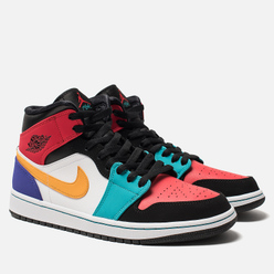 Мужские кроссовки Jordan Air Jordan 1 Mid White/University Red/Black/Turbo Green