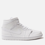 Мужские кроссовки Jordan Air Jordan 1 Mid White/White/White фото- 0