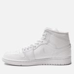 Мужские кроссовки Jordan Air Jordan 1 Mid White/White/White фото- 1