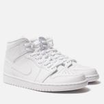 Мужские кроссовки Jordan Air Jordan 1 Mid White/White/White фото- 2