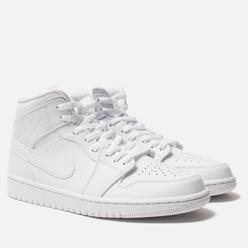 Мужские кроссовки Jordan Air Jordan 1 Mid White/White/White