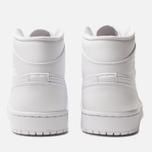 Мужские кроссовки Jordan Air Jordan 1 Mid White/White/White фото- 3