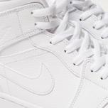 Мужские кроссовки Jordan Air Jordan 1 Mid White/White/White фото- 6