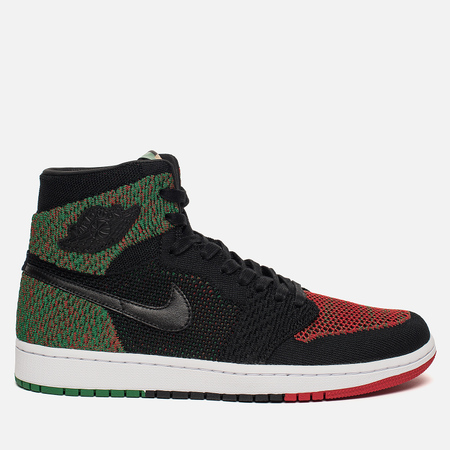 Мужские кроссовки Jordan Air Jordan 1 Retro High Flyknit BHM Black/Lucid Green/University Red/Black