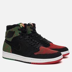 Мужские кроссовки Jordan Air Jordan 1 Retro High Flyknit BHM Black/Lucid Green/University Red/Black