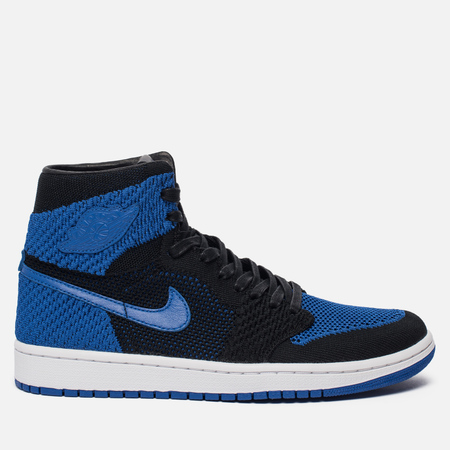Мужские кроссовки Jordan Air Jordan 1 Retro High Flyknit Black/Game Royal/White