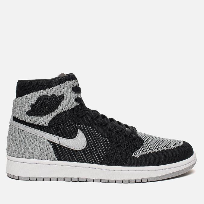 Мужские кроссовки Jordan Air Jordan 1 Retro High Flyknit Black/Medium Grey/White