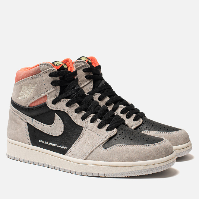Мужские кроссовки Jordan Air Jordan 1 Retro High OG Neutral Grey/Black/Hyper Crimson/White