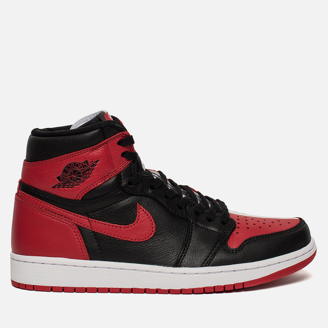 Мужские кроссовки Jordan Air Jordan 1 Retro High OG NRG Black White University  Red ... 68ab7530acf