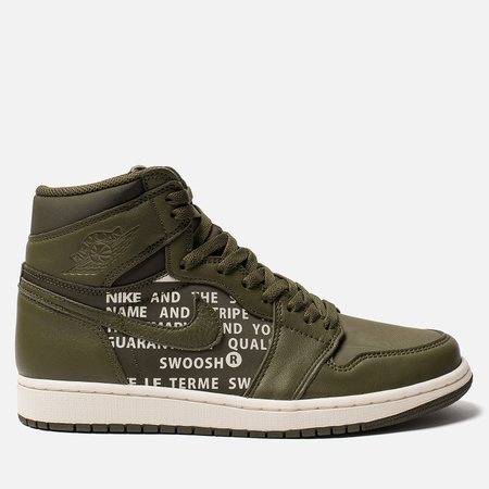 Мужские кроссовки Jordan Air Jordan 1 Retro High OG Olive Canvas/Sail