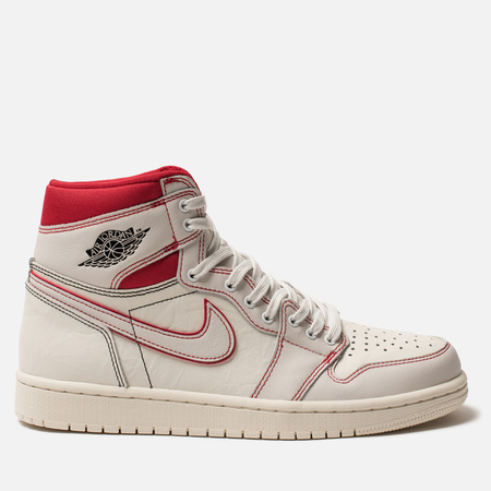Jordan Мужские кроссовки Air Jordan 1 Retro High OG Sail Black Phantom University  Red f7a4c9f450092