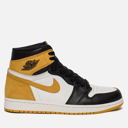 Мужские кроссовки Jordan Air Jordan 1 Retro High OG Summit White/Black/Yellow Ochre