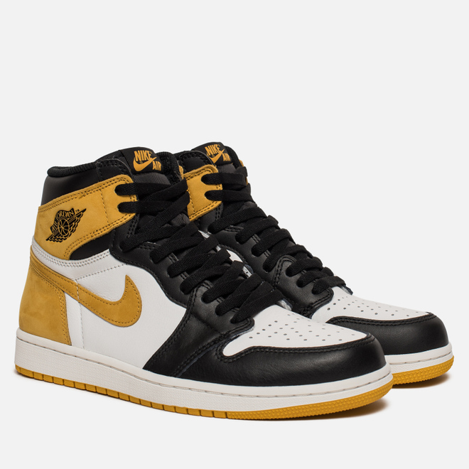 Мужские кроссовки Jordan Air Jordan 1 Retro High OG Summit White/Black/Yellow Ochre
