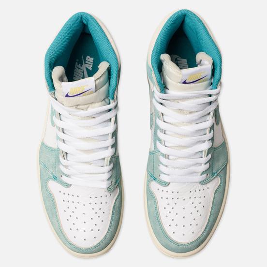 Мужские кроссовки Jordan Air Jordan 1 Retro High OG Turbo Green/Sail/White/Light Smoke Grey