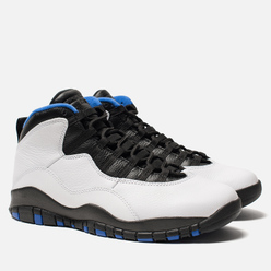 Мужские кроссовки Jordan Air Jordan 10 Retro White/Black/Royal Blue/Metallic Silver