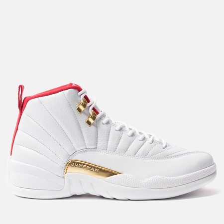 Мужские кроссовки Jordan Air Jordan 12 Retro White/University Red/Metallic Gold