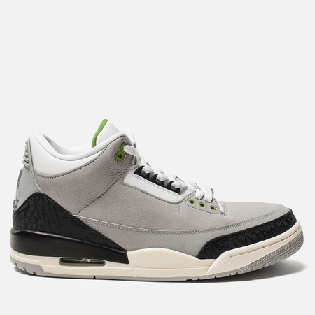 Мужские кроссовки Jordan Air Jordan 3 Retro Light Smoke Grey/Chlorophyll/Black/White