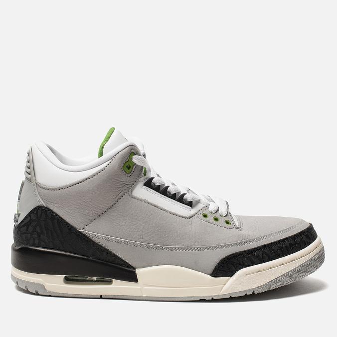 Мужские кроссовки Jordan Air Jordan 3 Retro Light Smoke Grey/Chlorophyll/Black/White