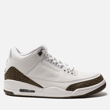 Мужские кроссовки Jordan Air Jordan 3 Retro White/Dark Mocha/Chrome