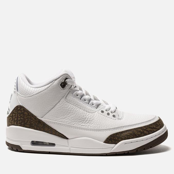 Мужские кроссовки Jordan Air Jordan 3 Retro White/Dark Mocha/Chrome