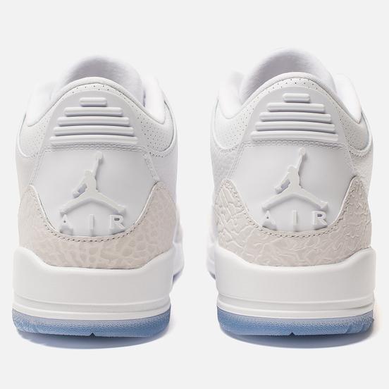 Мужские кроссовки Jordan Air Jordan 3 Retro White/White/White