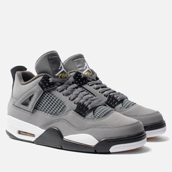Мужские кроссовки Jordan Air Jordan 4 Retro Cool Grey/Chrome/Dark Charcoal