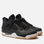 Мужские кроссовки Jordan Air Jordan 4 Retro SE Black/White/Gum Light Brown фото- 2