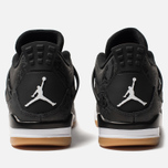Мужские кроссовки Jordan Air Jordan 4 Retro SE Black/White/Gum Light Brown фото- 4