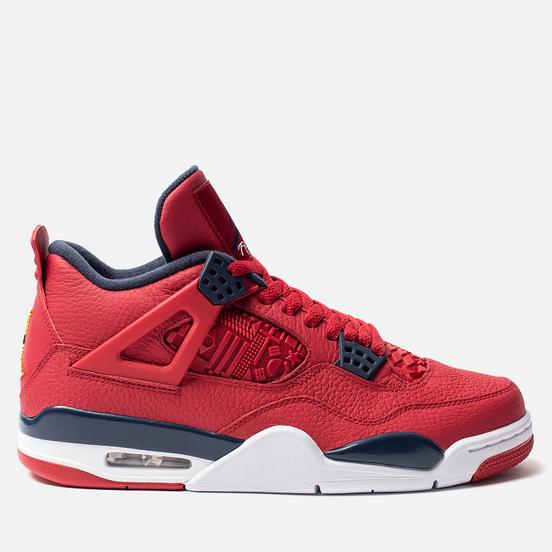 Мужские кроссовки Jordan Air Jordan 4 Retro SE FIBA Gym Red/Obsidian/White/Metallic Gold