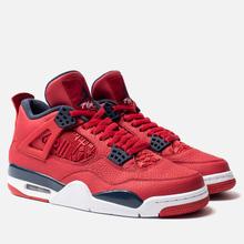 Мужские кроссовки Jordan Air Jordan 4 Retro SE FIBA Gym Red/Obsidian/White/Metallic Gold фото- 3