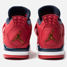 Мужские кроссовки Jordan Air Jordan 4 Retro SE FIBA Gym Red/Obsidian/White/Metallic Gold фото- 2