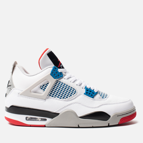 Мужские кроссовки Jordan Air Jordan 4 Retro SE What The White/Military Blue/Fire Red/Tech Grey