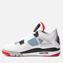 Мужские кроссовки Jordan Air Jordan 4 Retro SE What The White/Military Blue/Fire Red/Tech Grey фото- 1