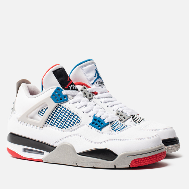 Мужские кроссовки Jordan Air Jordan 4 Retro SE What The White/Military Blue/Fire Red/Tech Grey