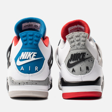 Мужские кроссовки Jordan Air Jordan 4 Retro SE What The White/Military Blue/Fire Red/Tech Grey фото- 3