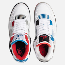 Мужские кроссовки Jordan Air Jordan 4 Retro SE What The White/Military Blue/Fire Red/Tech Grey фото- 4